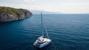 A head-spinning luxury sail catamaran Sunreef 50 Solitaire