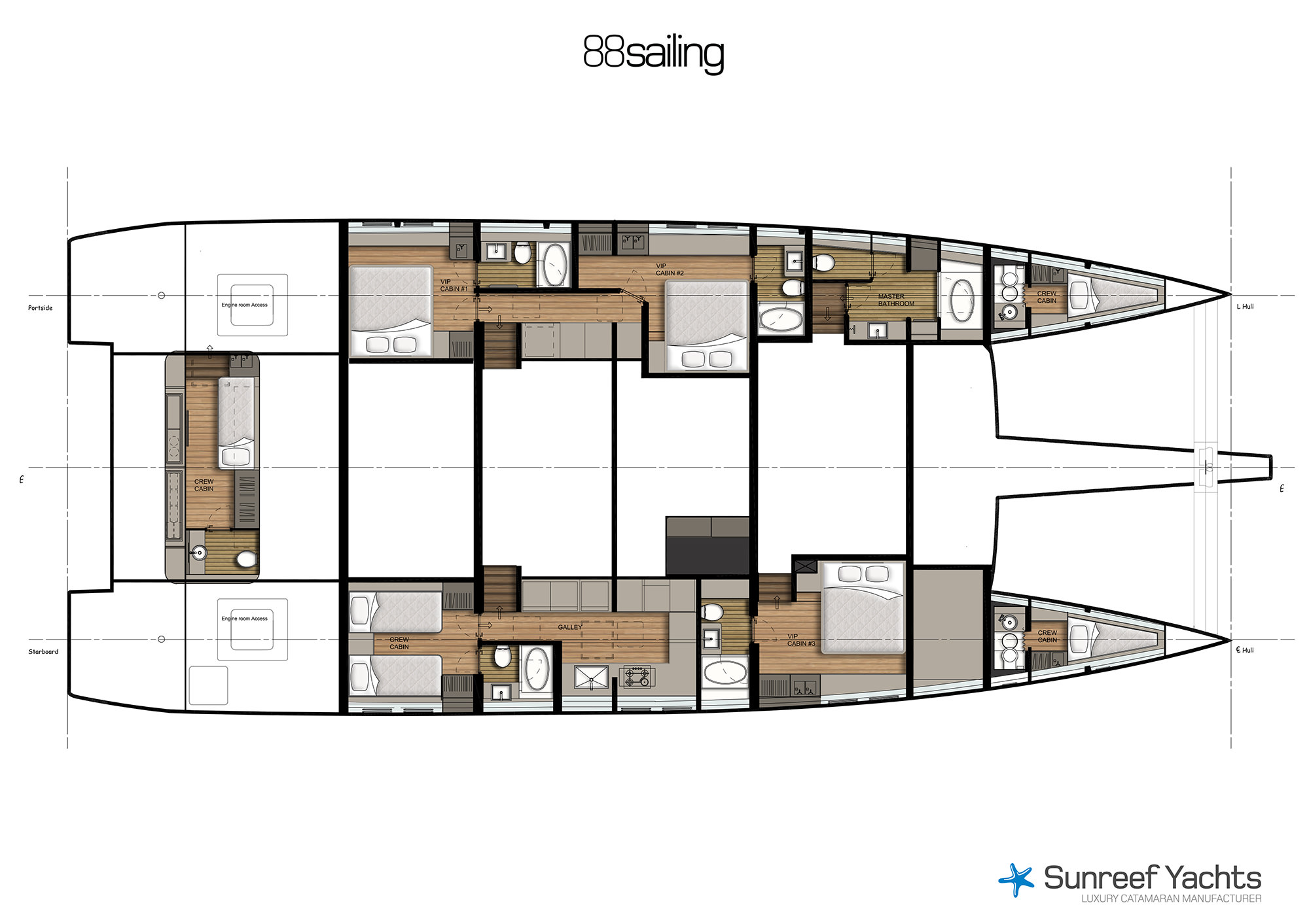 100 catamaran floor plan colors leopard 58 leopard for 100 floors floor 88