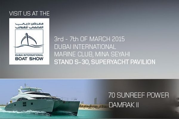 Sunreef Yachts Announces its Presence at the Dubai International Boat Show 2015 with 70 Sunreef Power Yacht on Display