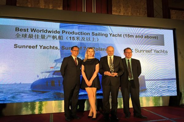 Sunreef 74 nagrodzony podczas gali Asia Boating Awards w Hong Kongu
