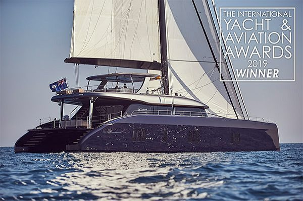 The Sunreef 80 voted as Best Sailing Yacht at the Yacht & Aviation Awards 2019
