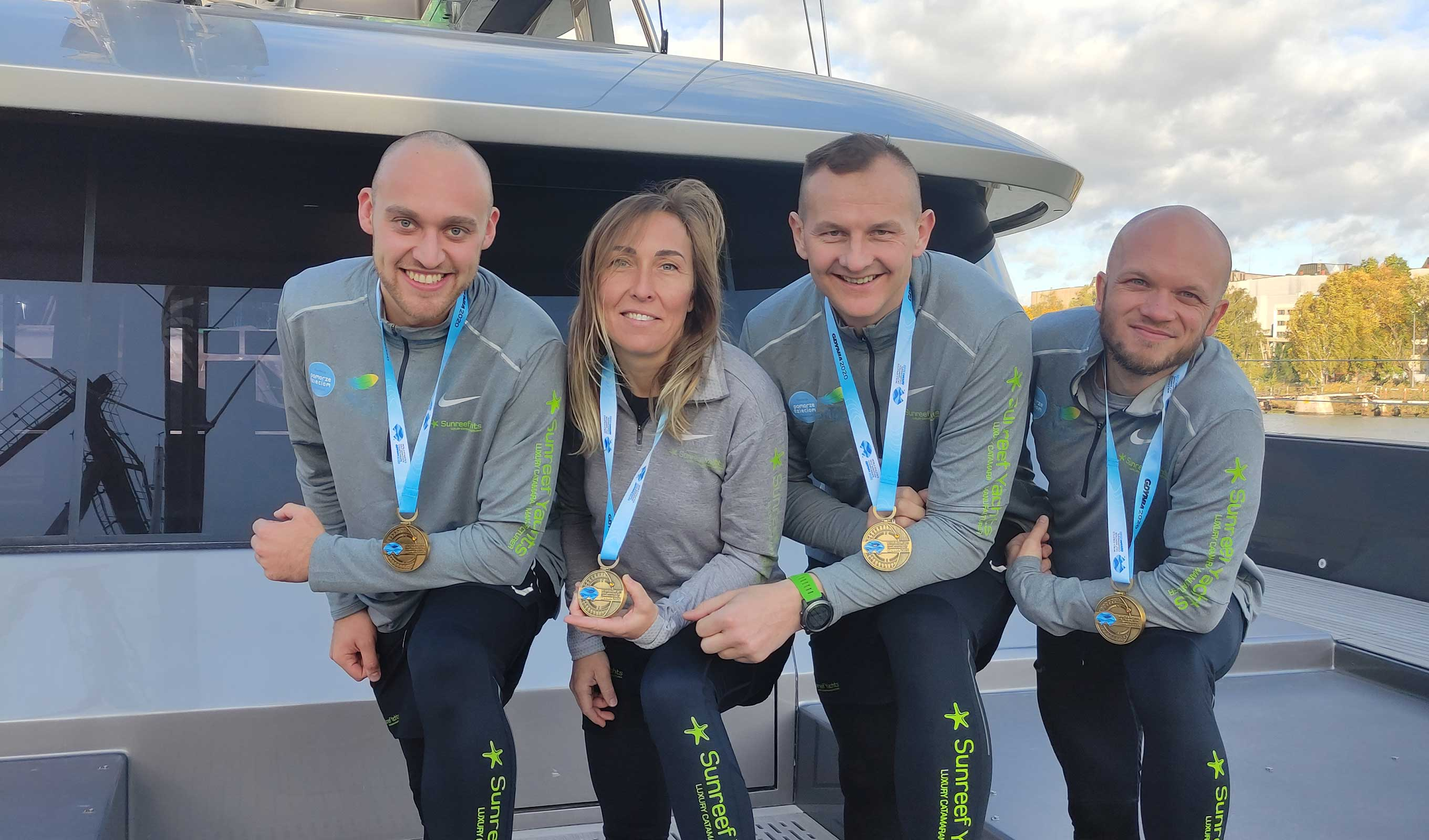 The Sunreef Yachts Running Team took part in a virtual half marathon