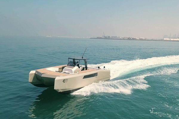 The 40 Open Sunreef Power Makes waves At the Abu Dhabi International Boat Show
