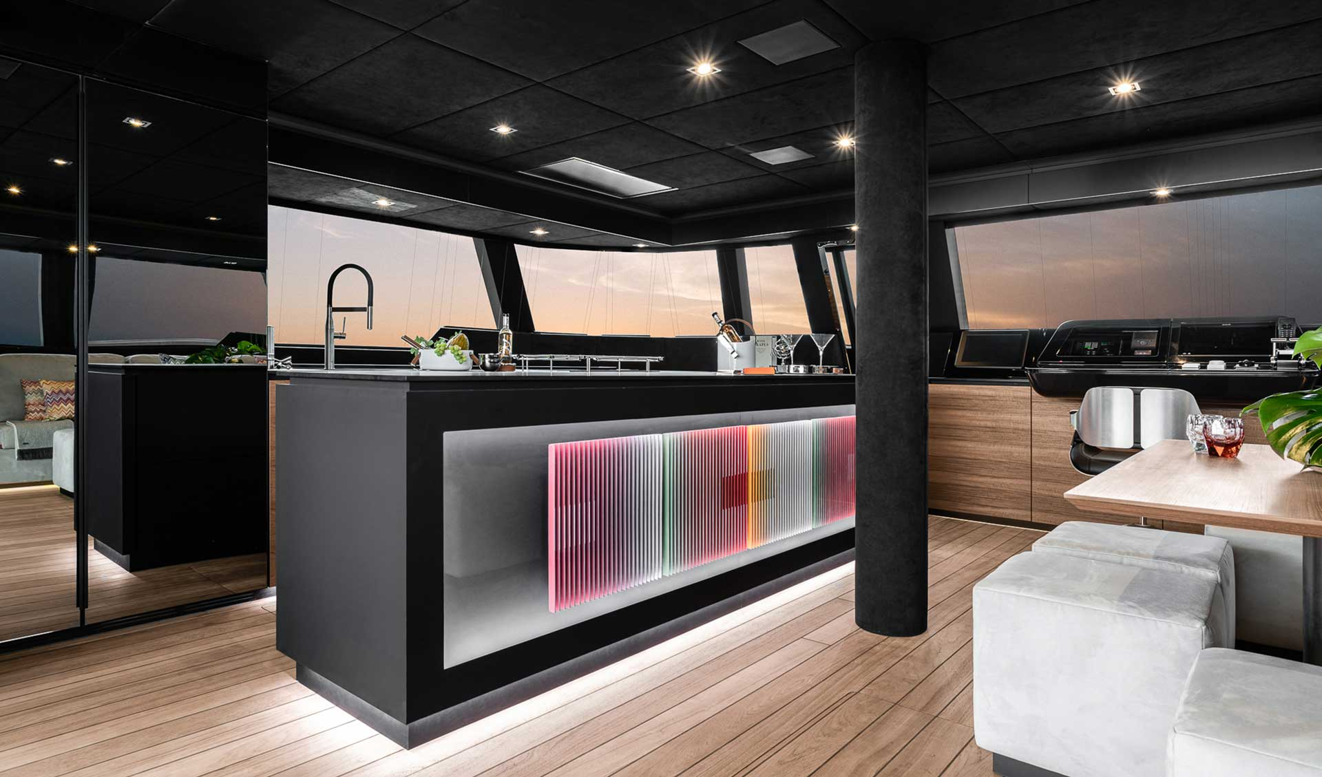 Sunreef e interior electric catamarans