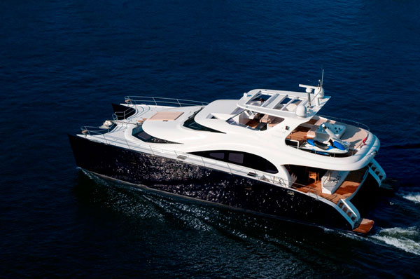 The launch of the second unit of the exclusive version of the 70 Sunreef Power